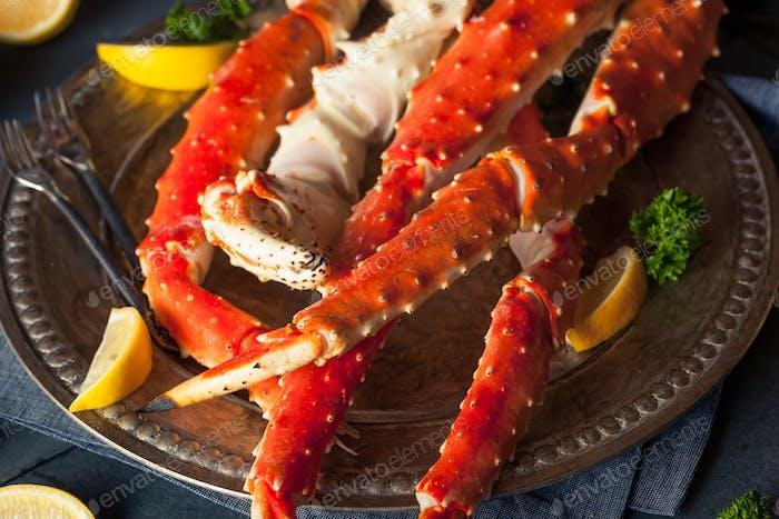 Gekochte Bio Alaska King Crab Beine