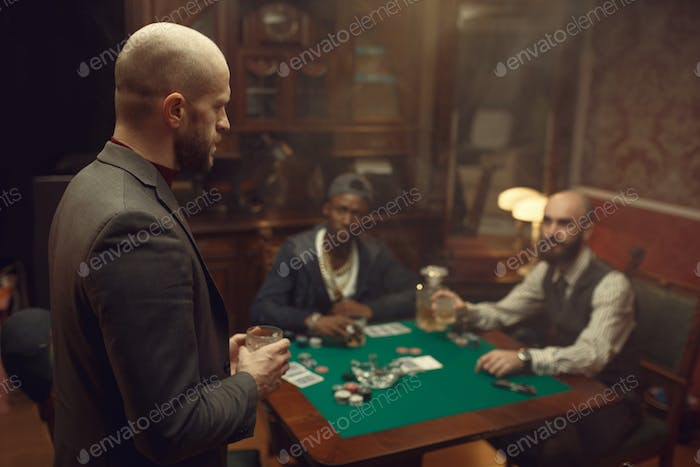 Thumbnail for Three poker players with whiskey and cigars