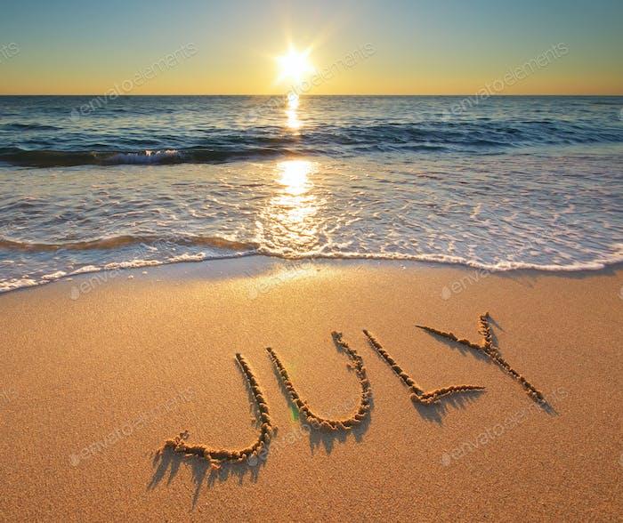 Palabra de julio en el Mar