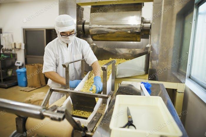 Nudelfabrik Arbeiter
