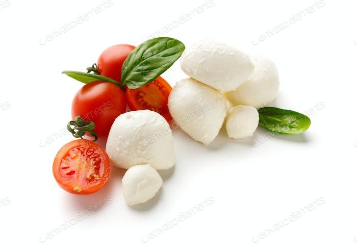 Caprese salad ingredients concept