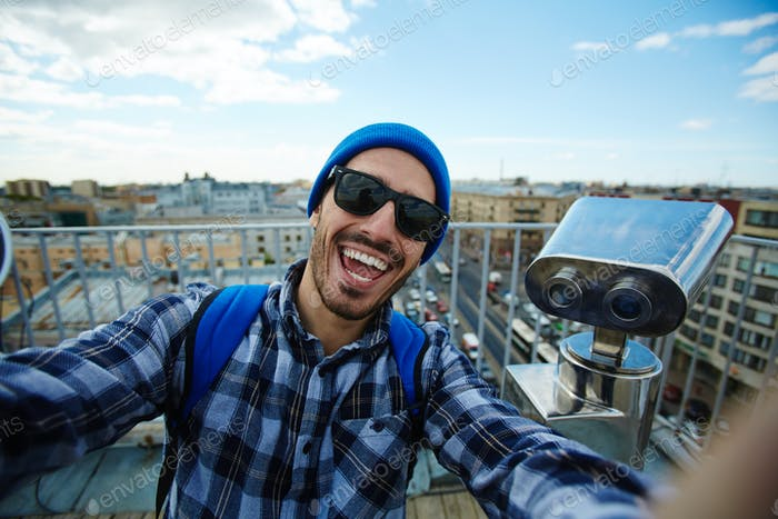Selfie on travel