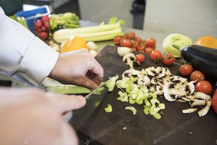Viel Gemüse für vegetarische Mahlzeiten
