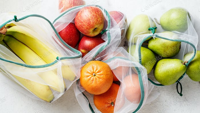 Fresh fruits, apples, bananas, pears and blood oranges