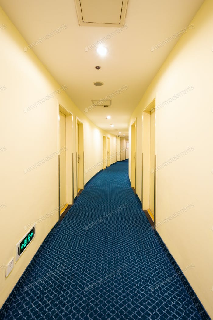 hotel curved corridor