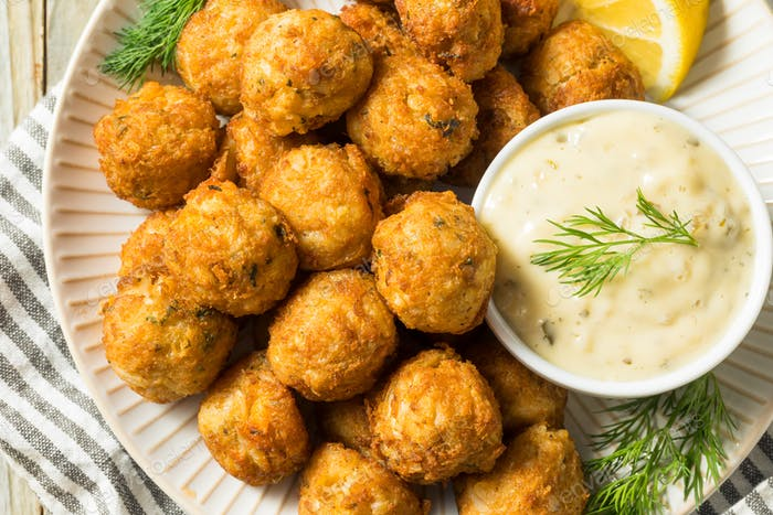 Homemade Seafood Mini Crab Cake Balls