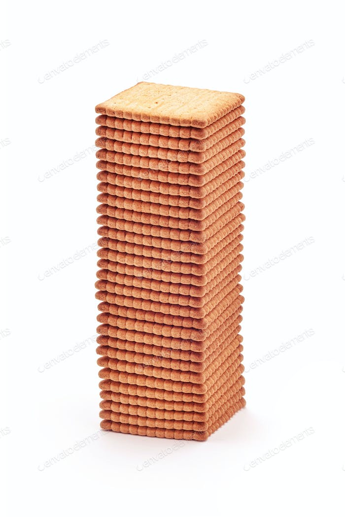 tall stack of biscuits