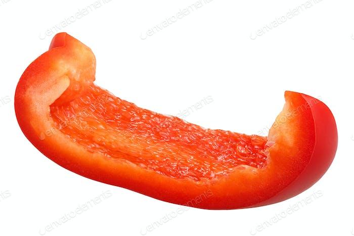 Red bell pepper slice c. annuum, paths
