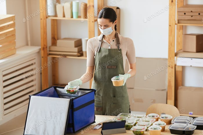 Worker working in delivery service