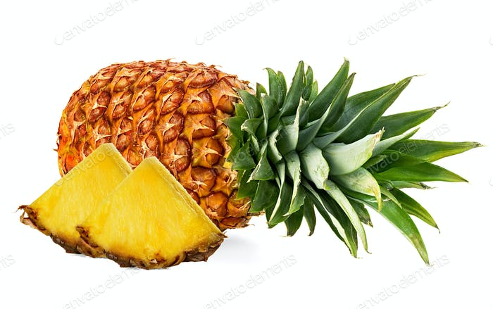 Thumbnail for Pineapple with slices isolated on white