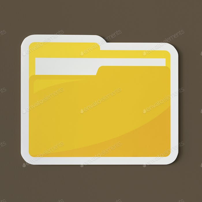 Icon of a yellow folder