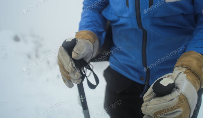 trekking poles winter
