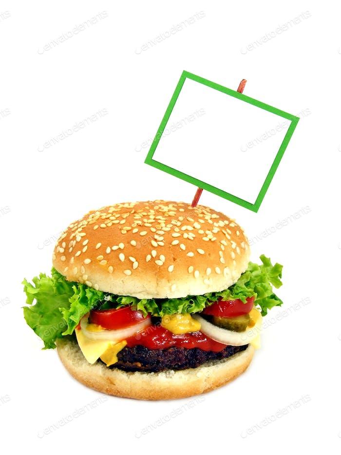 Cheeseburger and Signpost