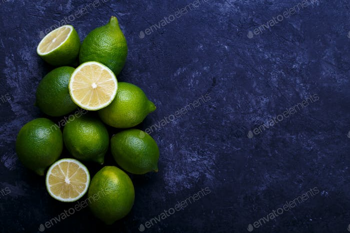 Juicy ripe limes
