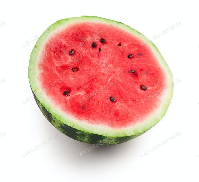 Half of fresh ripe red juicy watermelon