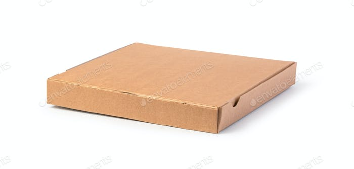unlabeled paper pizza box
