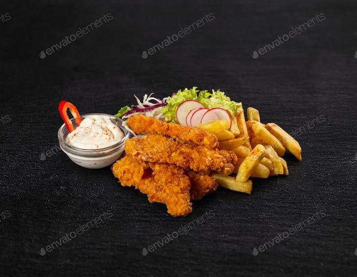 Crispy fried chicken breast