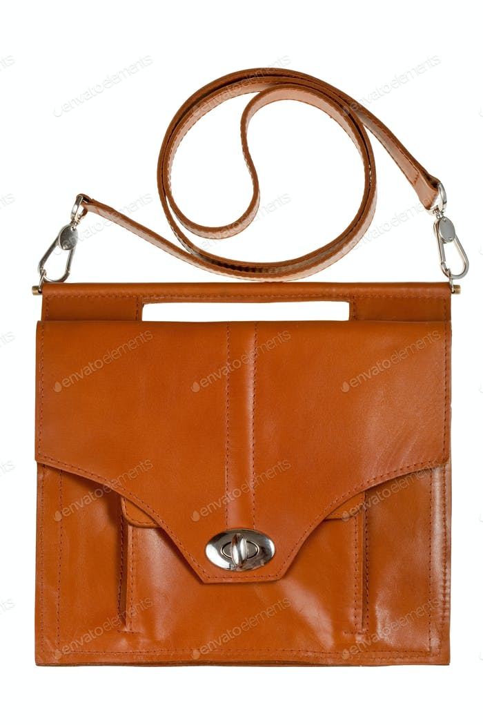 brown leather lady's bag