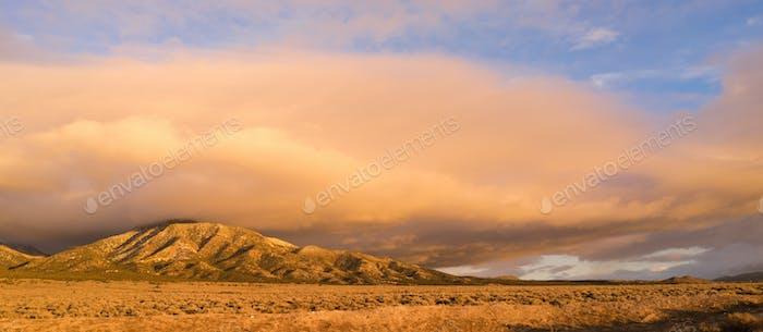 Cloudscape Over Hillsdie Sunset Orange Glow