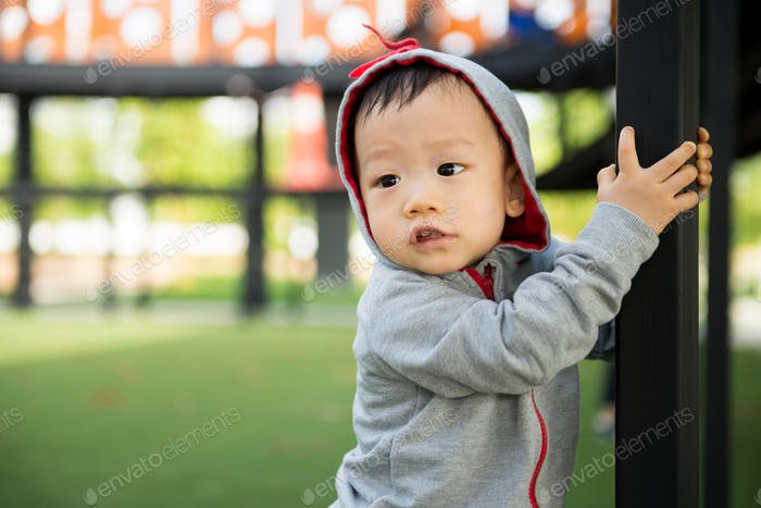 Portrait of little Asian baby boy