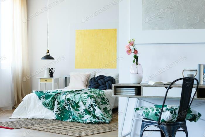 Art lover's bedroom