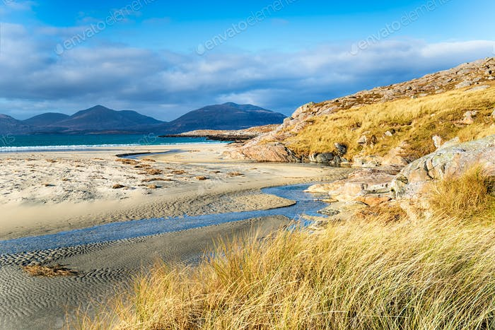 The sandy beach at Luskentyre on the Isle of Harris