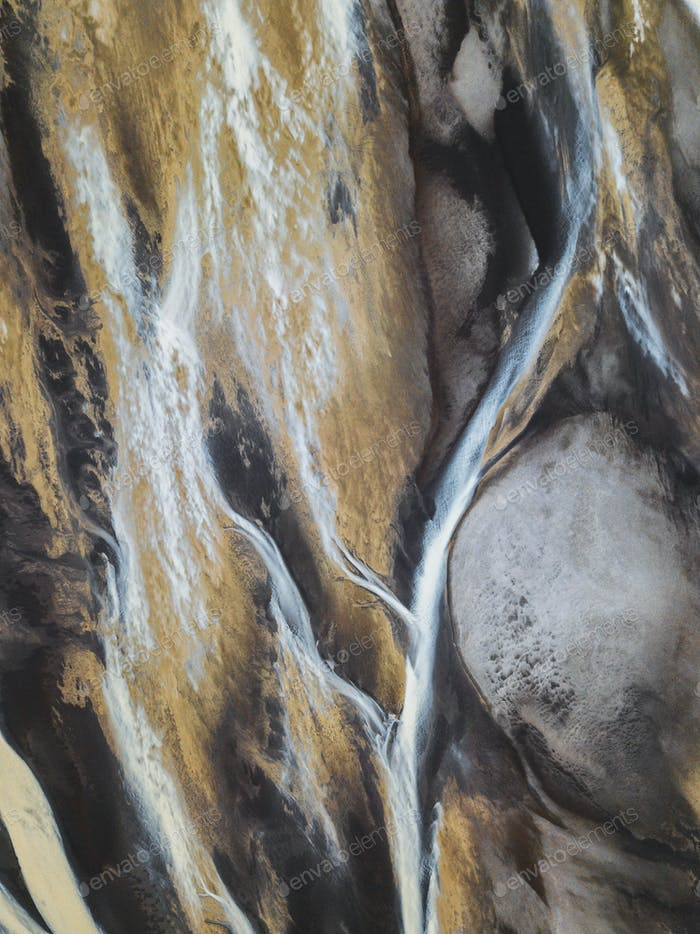 Glacial river pattern
