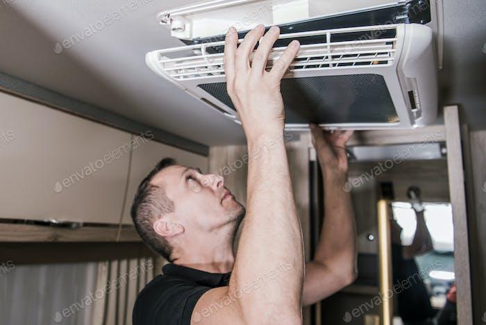 RV Appliances Technician at Work