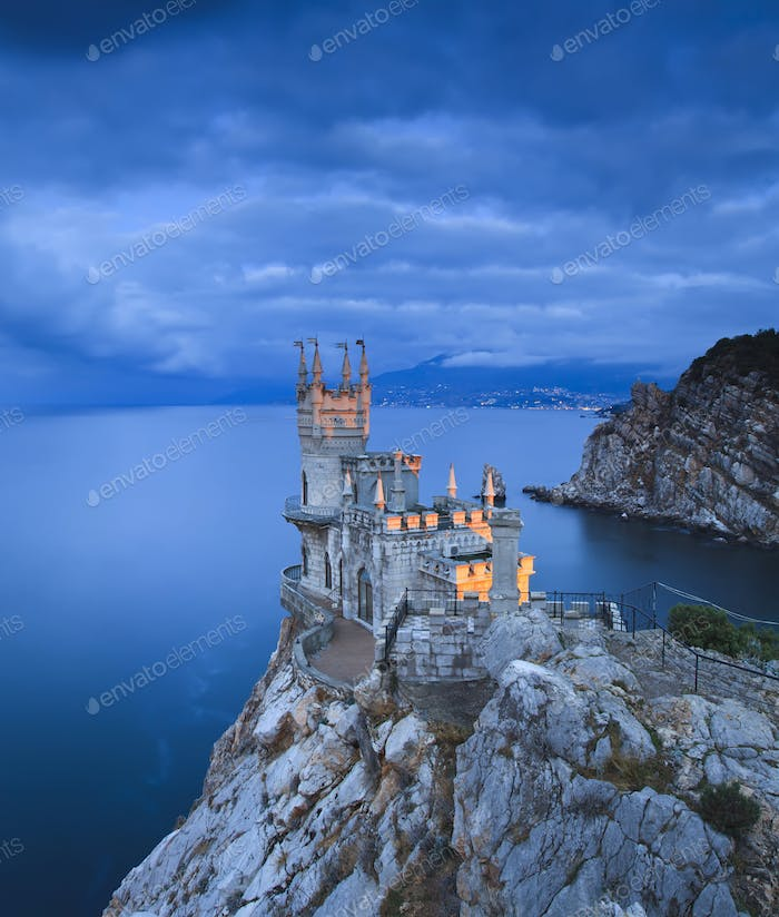 Swallow's Nest castle at sunset
