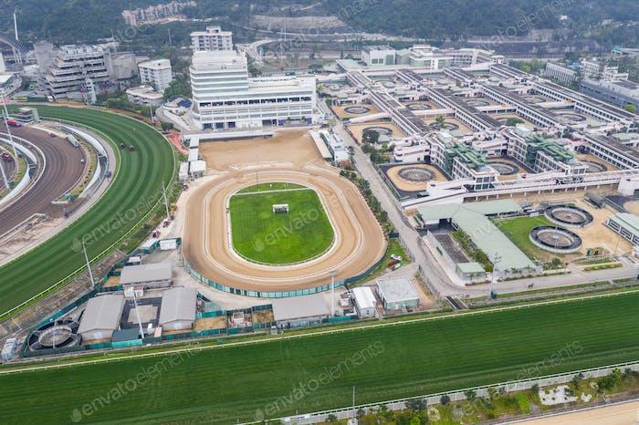 Sha Tin, Hong Kong, 17 March 2019: Sha Tin racecourse in Hong Kong