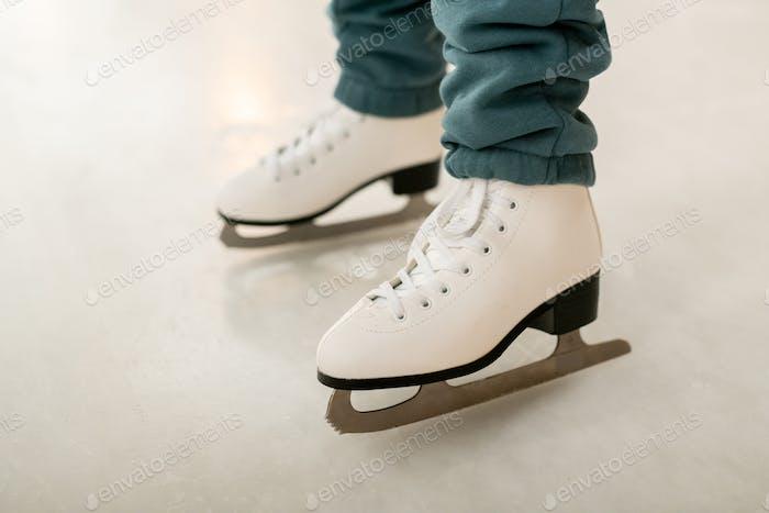 Skating on figure skates