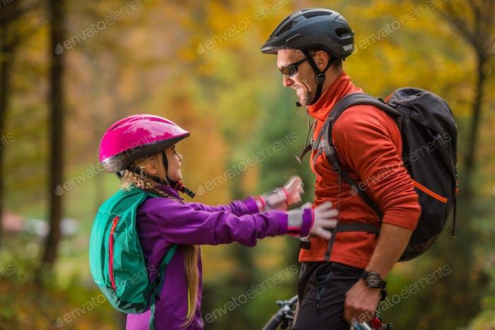 Father Daughter Bikes Trip