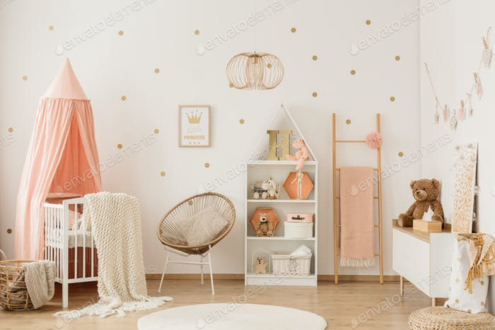 Scandi child's bedroom interior