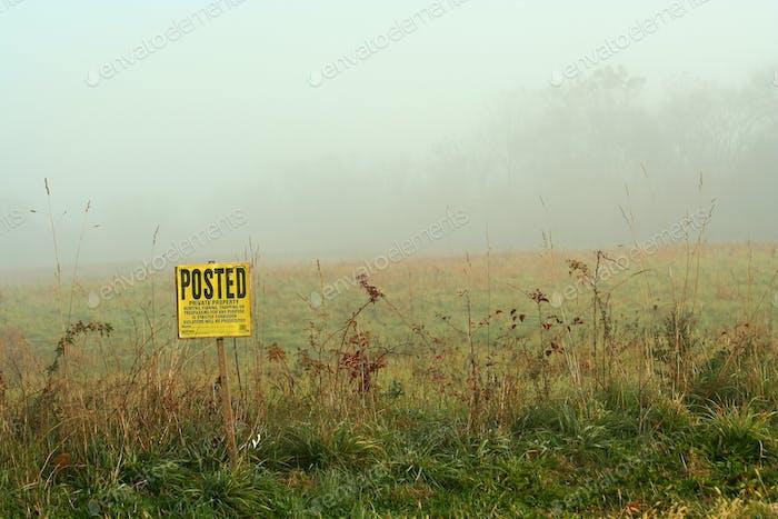 Foggy sign