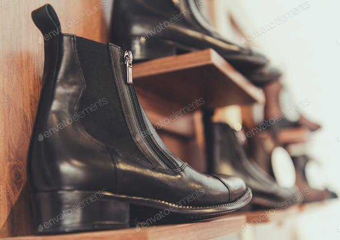 Vollnarben-Leder-Schuhe zum Verkauf
