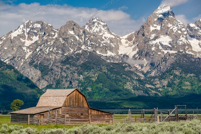 Alte Scheune in Grand Teton Mountains