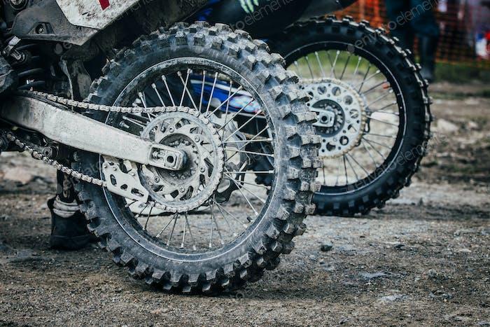 Rad des Enduro-Fahrrades