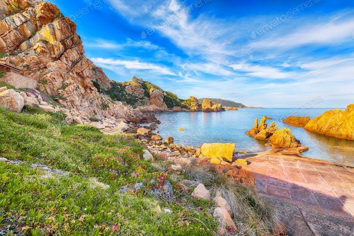 Fabulous view of popular travel destination Costa Paradiso.