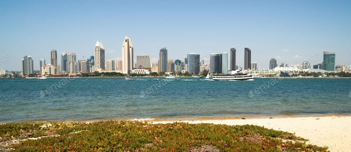 San Diego Bay Downtown City Skyline Waterfront