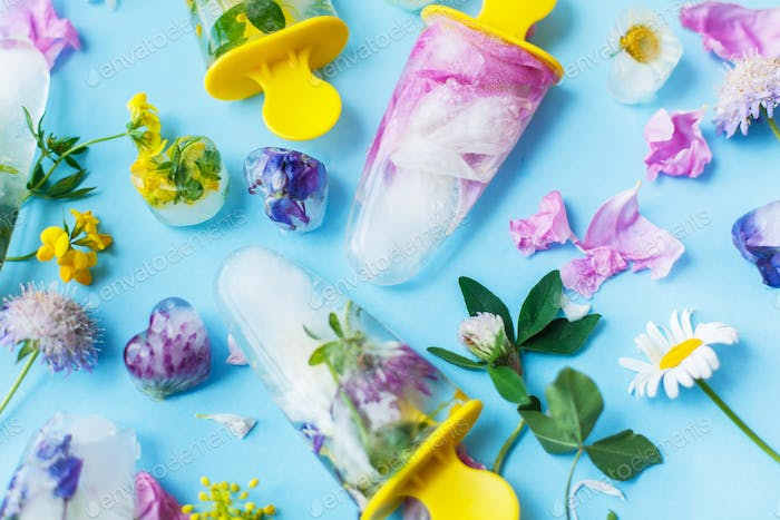 Floral Ice Pops