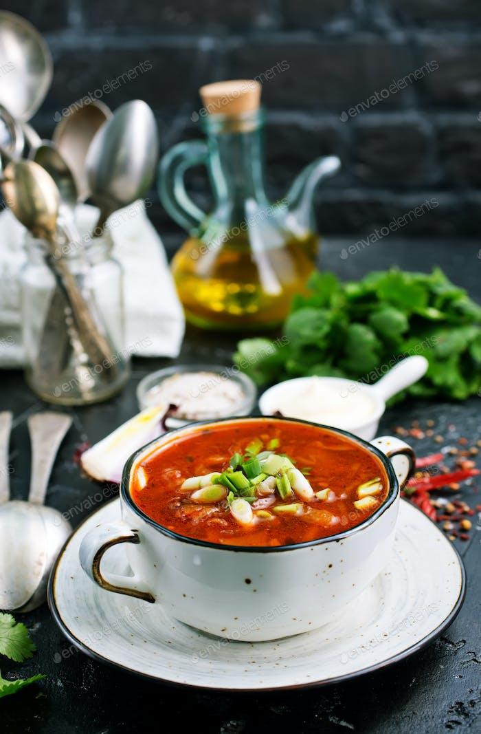 Traditional Ukrainian Russian borscht