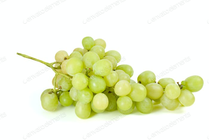 Green grapes bunch (muscat breed)