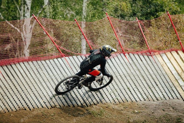 athlete rider downhill