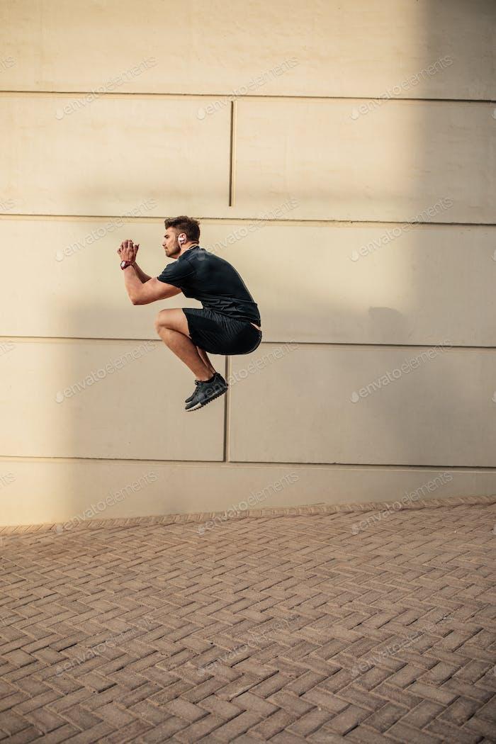 He trains like a superhero