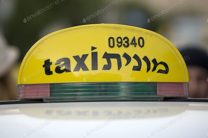 Taxi in the streets of Jerusalem