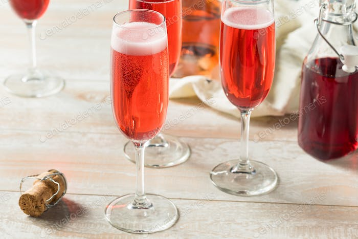 Sweet homemade Rose Mimosas