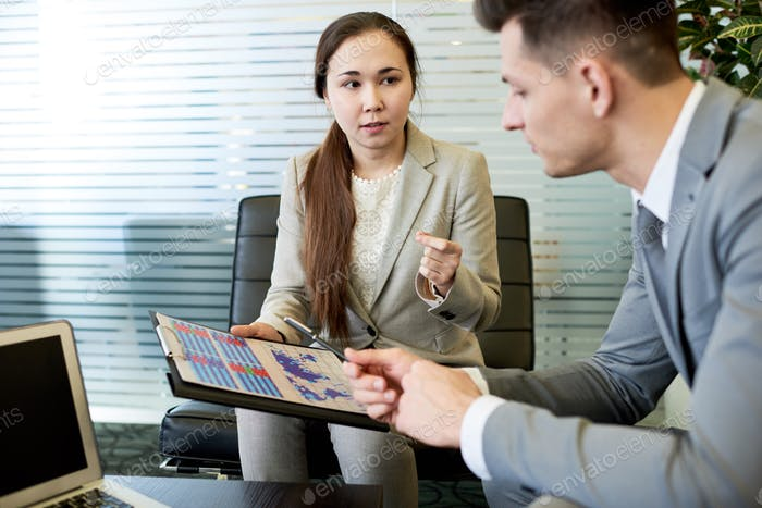 Young Businesswoman in Meeting