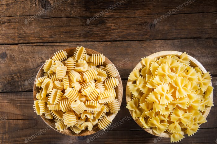 Raw Pasta such as Radiatori and Farfalle
