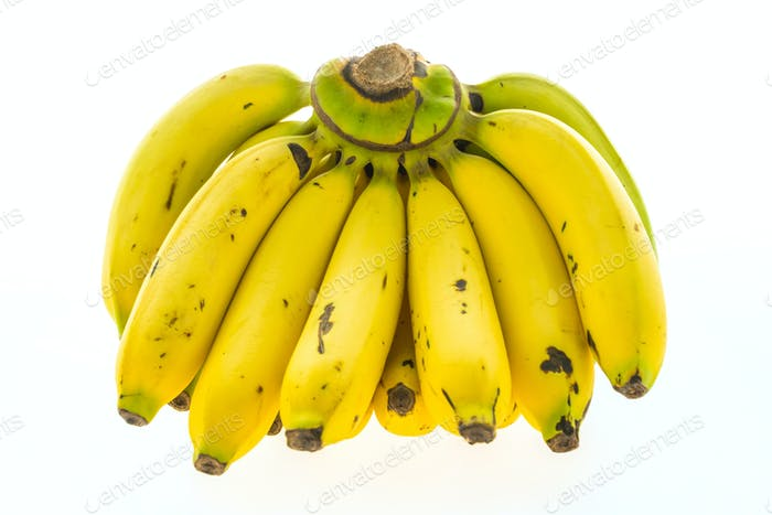 Yellow banana and fruit