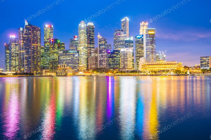 Singapore - 18 Jan 2019 : Beautiful architecture building landma